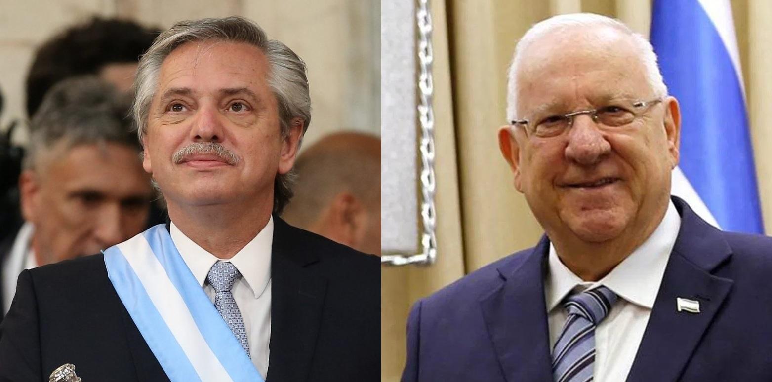 Alberto Fernández y Reuven Rivlin se reunirán en Jerusalem.