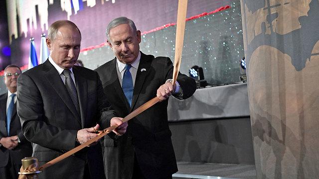 Putin y Netanyahu inauguraron un monumento en homenaje a las víctimas de Leningrado en el Parque Saker, en Jerusalem