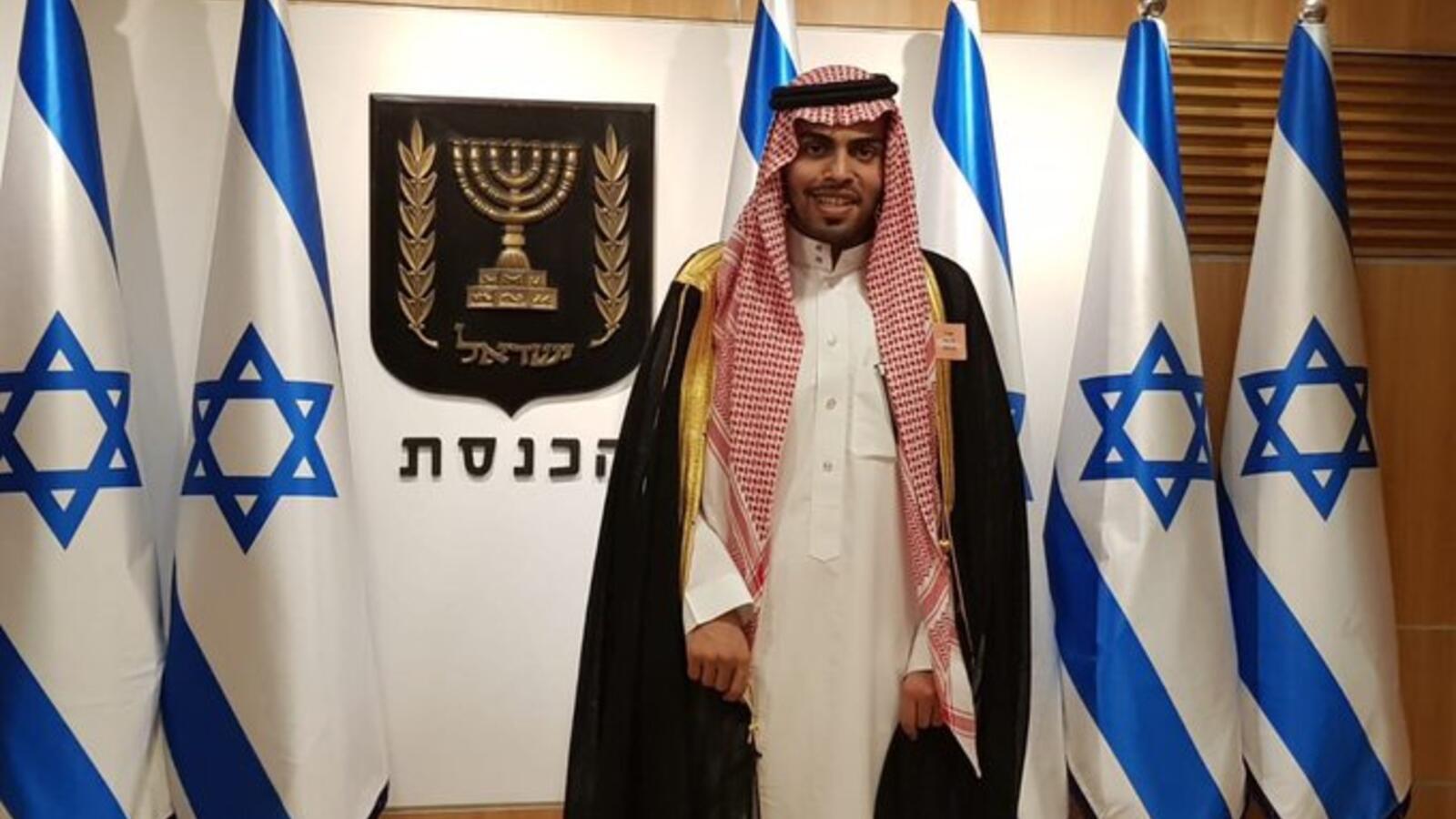 Mohammad Saud durante su visita a Israel