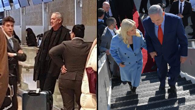 Netanyahu y Gantz partieron hacia Estados Unidos para reunirse con Trump