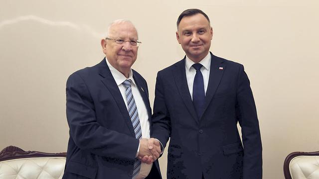 Rivlin fue recibido por el presidente polaco, Rivlin fue recibido por el presidente polaco, Andrzej Duda