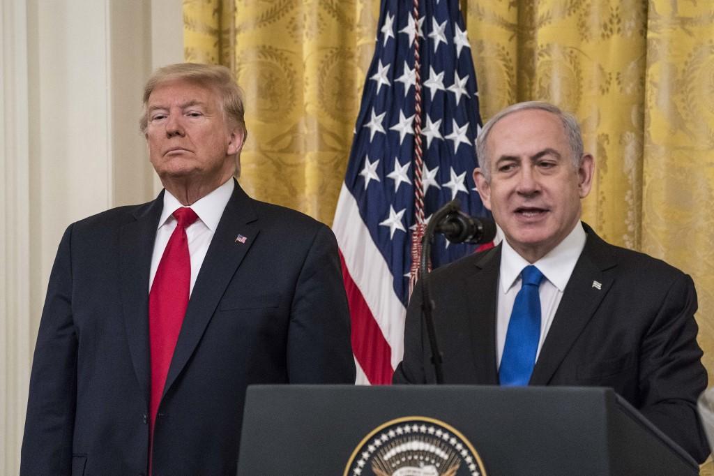 Trump y Netanyahu presentando el plan de paz