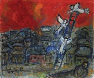 """""""La escalera de Jacob"""", de Marc Chagall."""