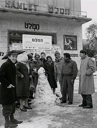 Nieve en Tel Aviv