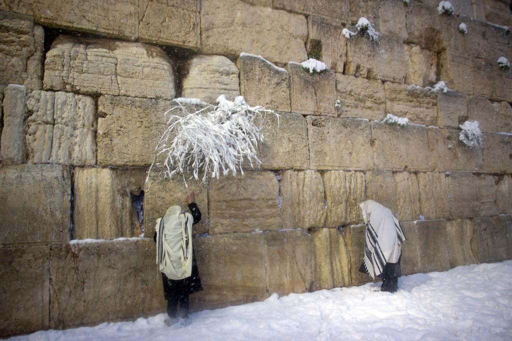 Nieve en Jerusalem