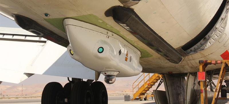 Sistema de detección de misiles DIRCM en un avión comercial