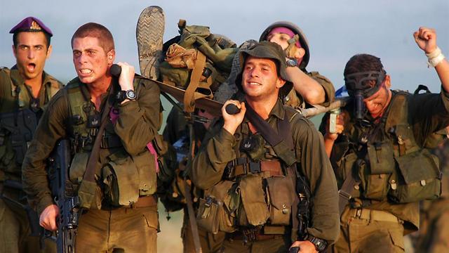 Tropas de las FDI durante un entrenamiento