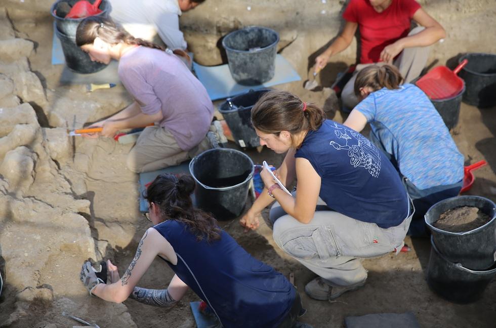 Trabajos arqueológicos en Tel Tsaf