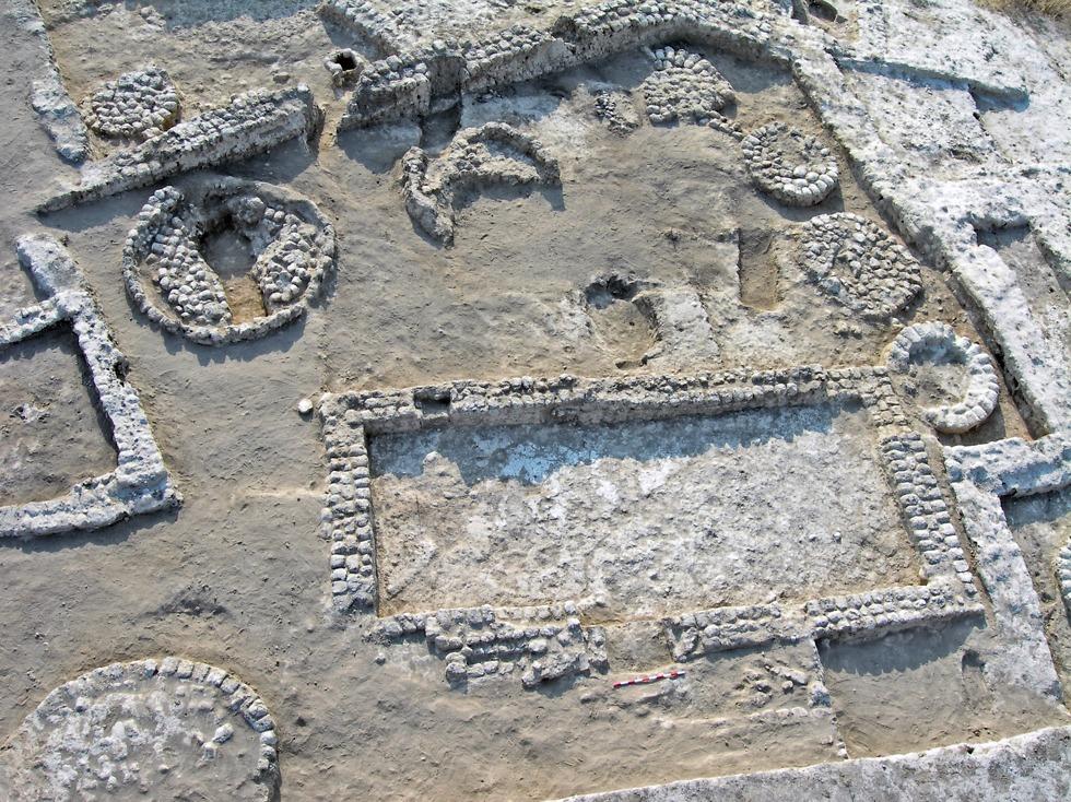Antiguas estructuras en Tel Tsaf