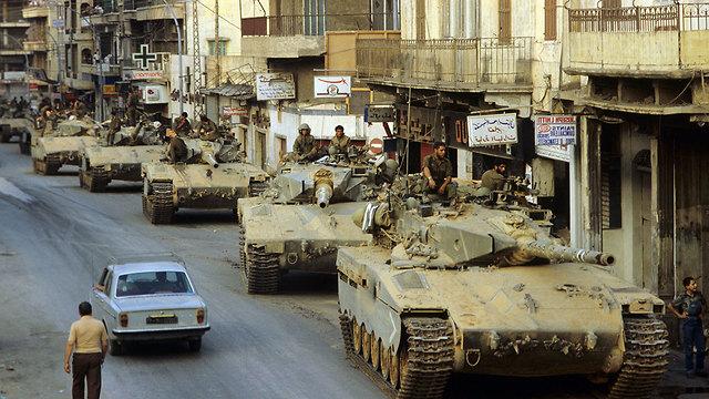 Tropas de las FDI en Beirut en 1982.