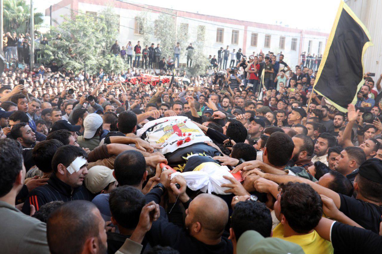 El funeral de Baha Abu al-Ata en noviembre.