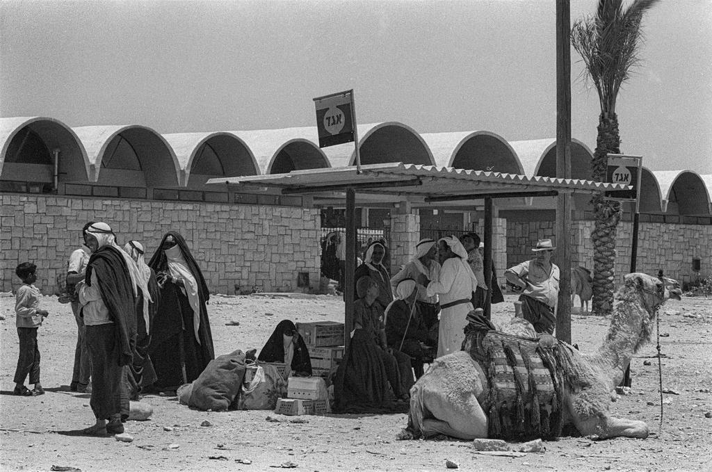 Una imagen de una antigua estación central de autobuses en Beer Sheva