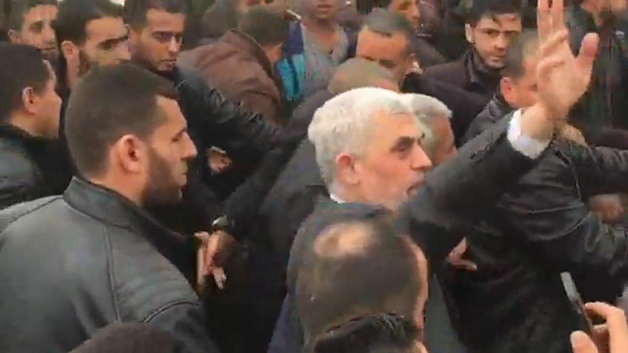 Sinwar durante una aparición pública en marzo.