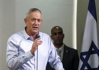 Gantz descartó integrar una coalición de gobierno con la alianza árabe