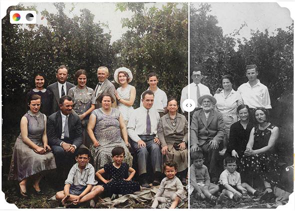 La nueva función de MyHeritage le aporta color a fotos históricas