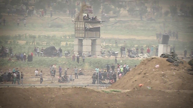 Puesto de observación en Gaza