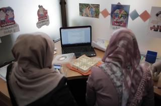 Empleadas de alta tecnología de Gaza
