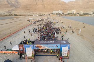 Largada de la Maratón del Mar Muerto