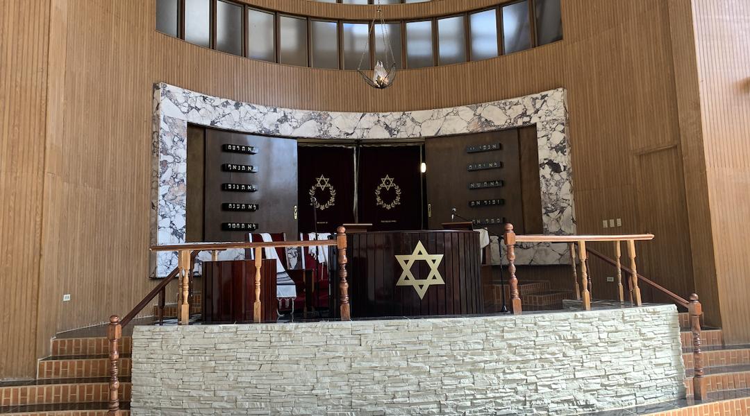 Una vista dentro de la sinagoga del Patronato, también llamada Templo Beth Shalom, en La Habana.