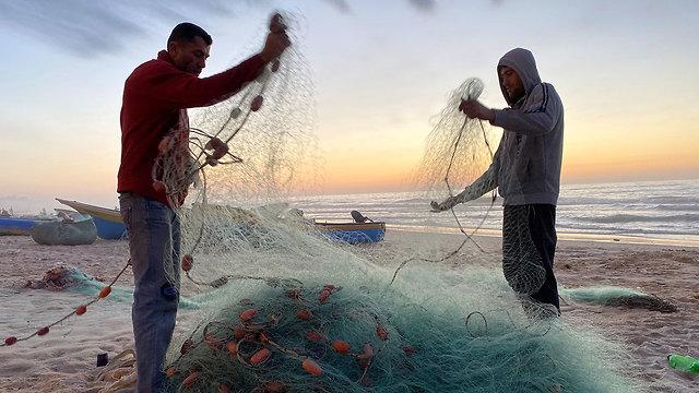 Pescadores en Gaza