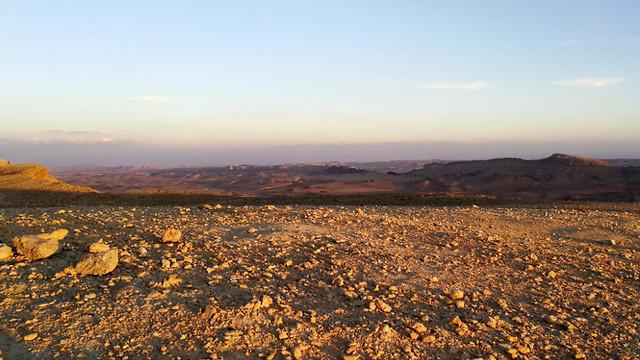 Condiciones que recuerdan en alguna medida a las de Marte: la zona del experimento en Majtesh Ramón.