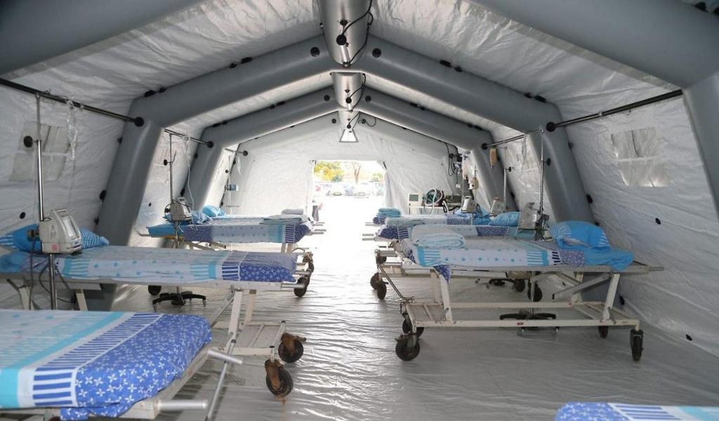 Sector de aislamiento en el hospital Sheba de Tel Hashomer