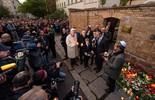El sitio del ataque a la sinagoga de Halle en octubre de 2019