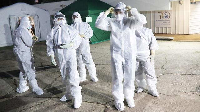 Así se preparan en el Centro Médico Sheba para recibir a los israelíes que provienen del crucero.