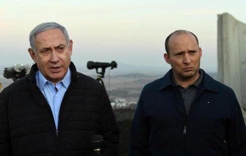 El primer ministro Benjamín Netanyahu y el ministro de Defensa Naftali Bennett