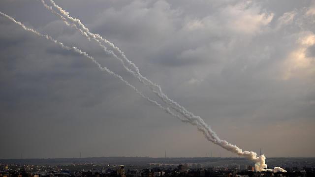 Más de 80 misiles fueron lanzados desde Gaza hacia Israel.