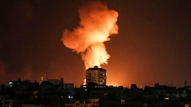 Ataque de las FDI en Gaza.