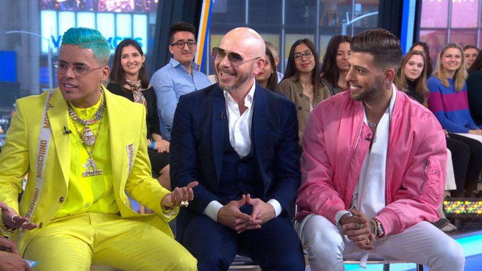 """Static y Ben-El junto con Pitbull en """"Good Morning America"""""""