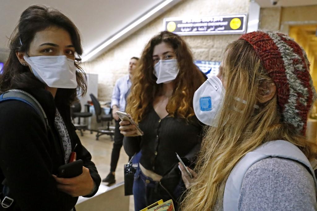 Sala de arribos en el aeropuerto Ben Gurion.