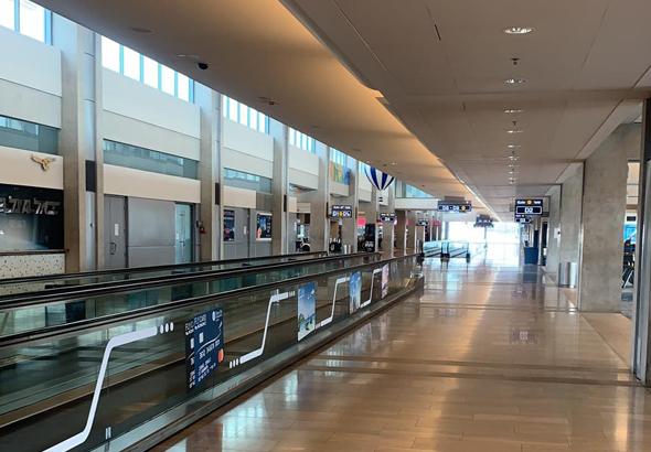 Aeropuerto Ben Gurion vacio