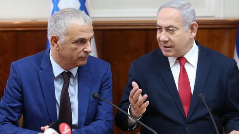 El ministro de finanzas Moshe Kahlon y el primer ministro Benjamin Netanyahu