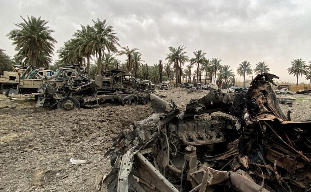 Daños provocados por el ataque estadounidense en Irak