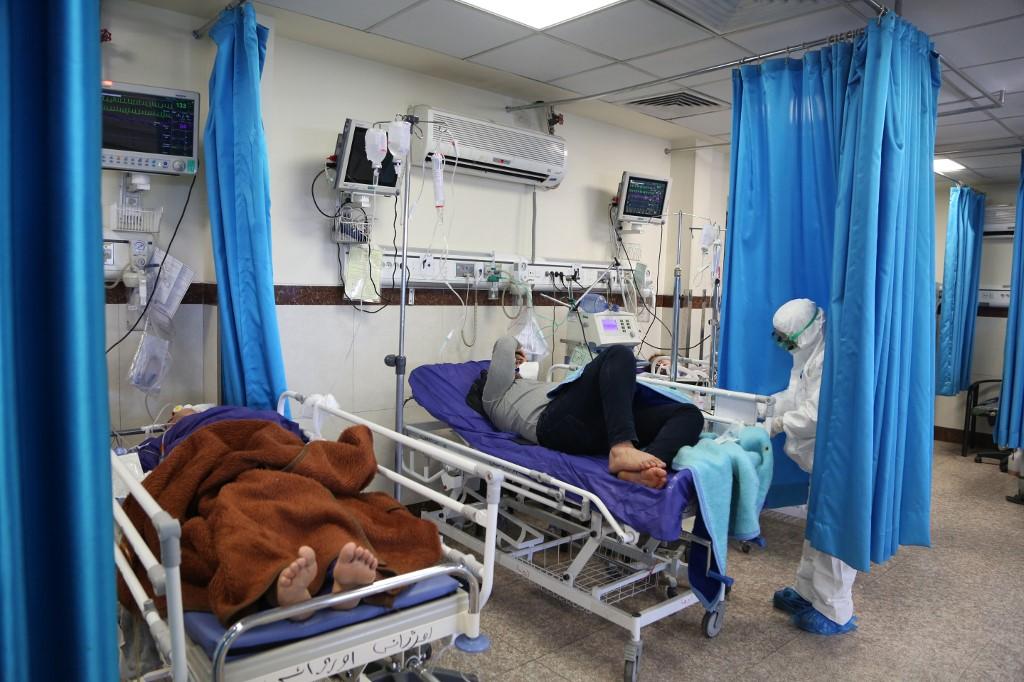 Hospital en Teherán que atiende a personas que sufren COVID-19