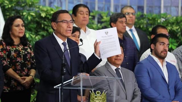 El presidente Vizcarra dispuso un cierre de fronteras completo a partir del martes