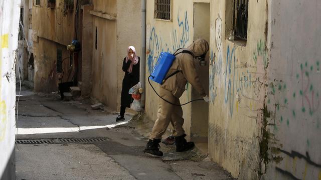 Trabajos de desinfección en Belén