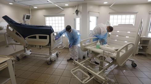 Una unidad especial en el Hospital Ichilov destinada al tratamiento de pacientes con coronavirus.
