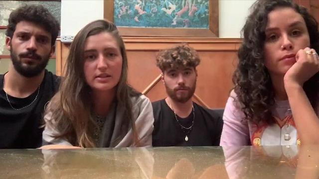 Nitai, Dafi, Yair y May están atrapados en Bogotá.