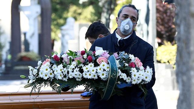 Muertes por coronavirus en Italia.