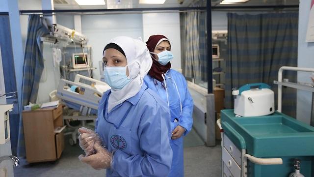 Preparándose para el coronavirus en un hospital de Siria.