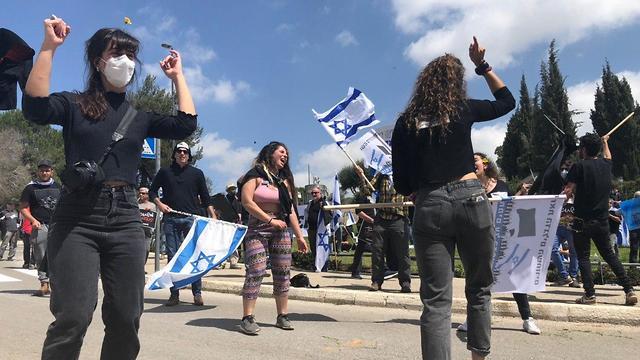 Protestas contra Edelstein en la Plaza de la Knesset.