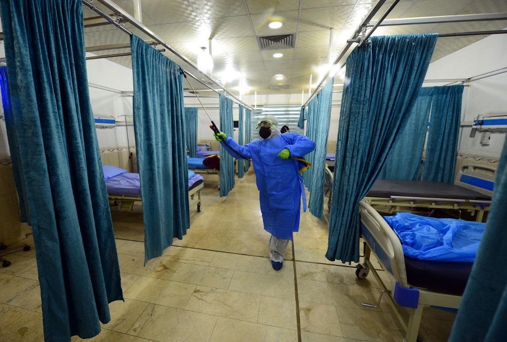 Hospital de Irak que se encarga de los casos de coronavirus.