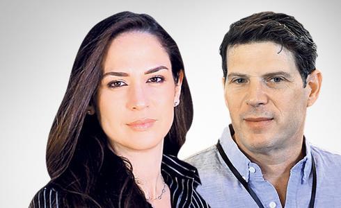 CEO de LeumiTech Yifat Oron (izquierda), y CEO de Nielsen Innovate Dov Yarkoni.