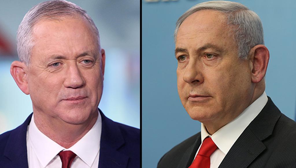 Gantz y Netanyahu, en camino hacia un gobierno de unidad.
