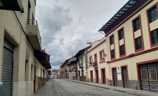 calles vacías de Cuenca
