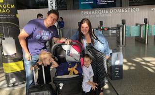 La familia Burdman, antes de la odisea para llegar a Israel.