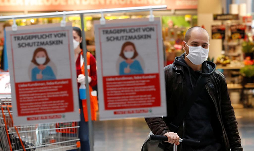 En Austria distribuyeron millones de barbijos.
